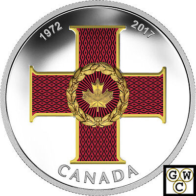 2017Cross of Valour-Canadian Honours'Color Prf $20 SilverCoin 1oz .9999(18221)NT