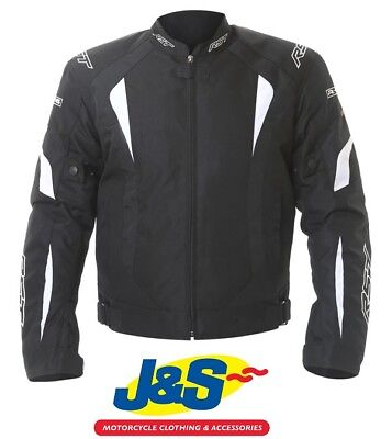 Rst R-16 Textile Motorcycle Jacket Sports Motorbike Sale Rrp £109.99 Black White