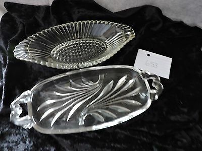 Vintage Clear Glass Pickle/Ralish Dishes