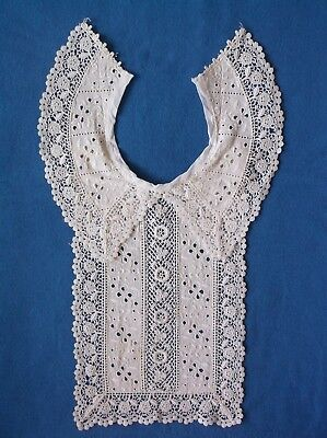 Beautiful Antique Vintage Lace Collar, Long Front Panel – Ivory