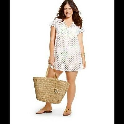 79bbd3fa46c60 NEW! LILLY PULITZER for Target Women's Plus Eyelet Tunic Cover Up ...