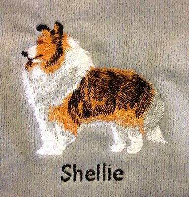 Shetland Sheepdog, Hand Towel, Embroidered, Custom, Personalized, Dog