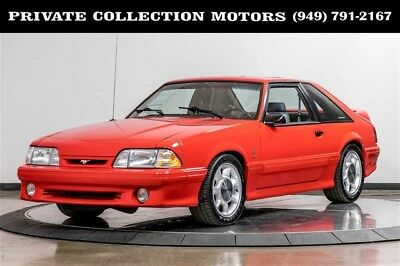 1993 Ford Mustang  1993 Ford Mustang Cobra Clean Carfax 9k Original Miles Stunning