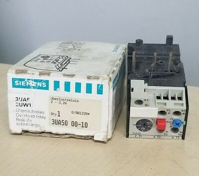 Siemens 3UA50-00-1D Solid State Overload Relay 2.0-3.20 amps