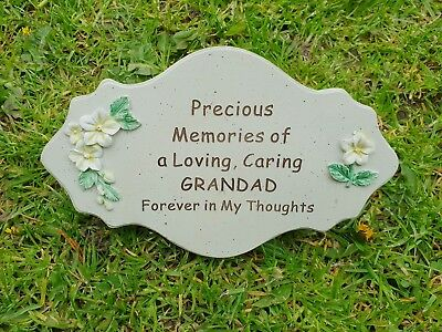 Grandad Grave Memorial Ornament Remembrance Flower Plaque Grandad