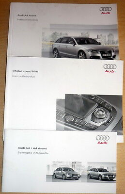 INSTRUCTIEBOEKJE,Audi A4 Avant,owner's manual, Olandese anno 2008