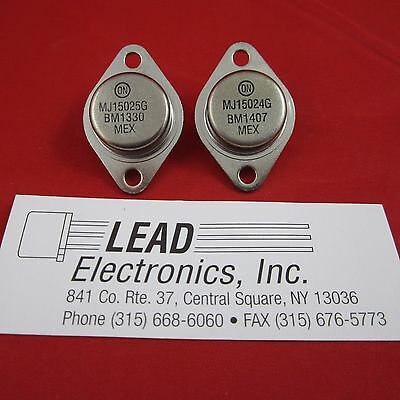 1pair MJ15024G NPN MJ15025G ,PNP  Audio power  TO-3 Onsemi Rohs Compliant #