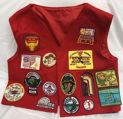 RARE BSA VINTAGE 1970's BOY SCOUTS OF AMERICA VEST PATCHES Illinois Chicago