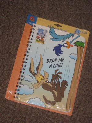 """2000-33 cent Wile Road Runner """"Drop A Line"""" address book, NEW"""