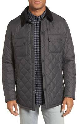 Barbour Akenside Quilted Men's Charcoal Jacket Size Medium