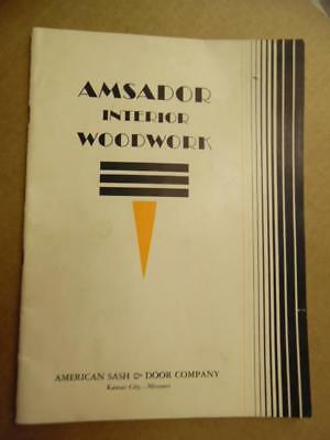 c.1935 American Sash & Door Co Amsador Woodwork Millwork Catalog Kansas City MO