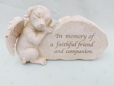 MEMORIAL PLAQUE for DOG NEW POLY- RESIN STONE EFFECT FREE POST