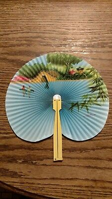 vintage fold-up hand fan, Republic of China