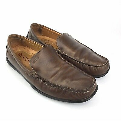 47b5387e4a46 Ecco Driving Moc Shoes Size 11 Men s Comfort Brown Soft Leather Casual Slip  On