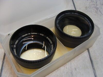Lot of 2 Raynox Lenses for Camcorder Telephoto Wide Angle Lens KIT Made In JAPAN
