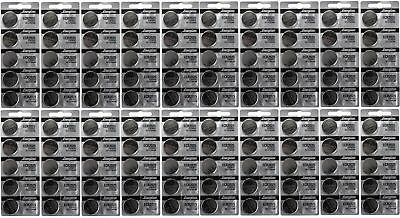 Lot of 100 FRESH Genuine Energizer CR2025 2025 3V Coin Button Battery