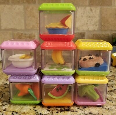 fisher price peek a boo blocks food pie carrot cookie hippo cereal