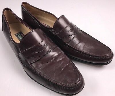 Alden Lugano Burgundy Oxblood Penny Loafers Mens 13 B Italy 80 00