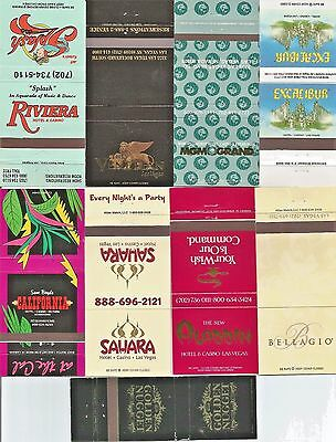 50 Different Las Vegas Casino Matchcovers!!  Collectible! New!  All 50 Pictured!