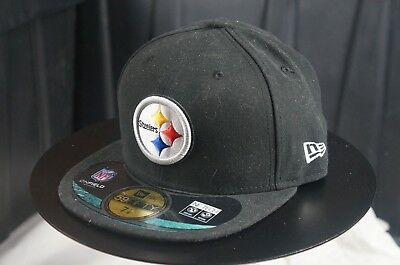 9e40a6e094f218 Rare Vintage NEW ERA Pittsburgh Steelers NFL NWT 59Fifty Fitted Hat Cap SZ 7  1/