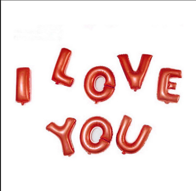 I Love You Letter Heart Foil Balloon Anniversary/ Wedding Decoration (8Pcs)
