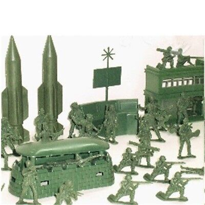 AU 56pcs Military Missile Base Model Playset Toy Soldiers Green Figure Army Kit
