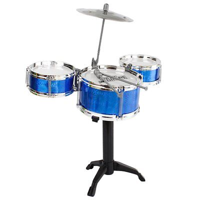 3-Piece Kids Drum Set Children Junior Drums Kit Percussion Musical Instrument ML