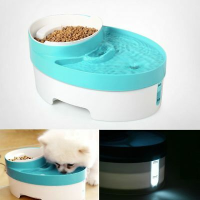 3 in 1 Pet Water Fountain For Cat Dog Automatic Food Bowl Dish Feeder Dispenser