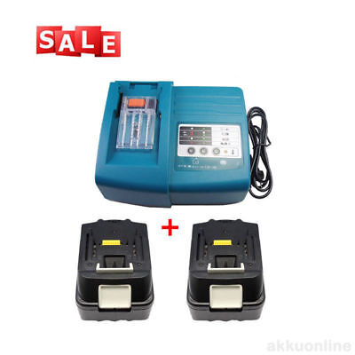 18V 3.0Ah Makita BL1830 Batteria X2 + Caricabatterie DC18RC DC18RA Nuovo LG Cell