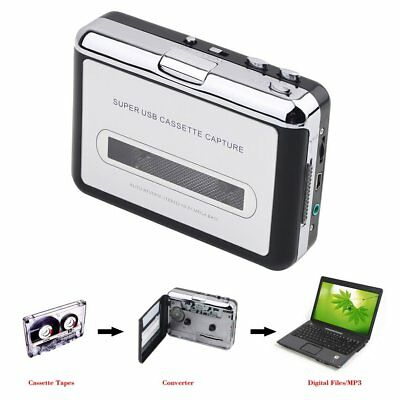 Tape to PC MP3 Ipod CD USB Cassette-to-MP3 Converter Capture Audio Music Pla MB