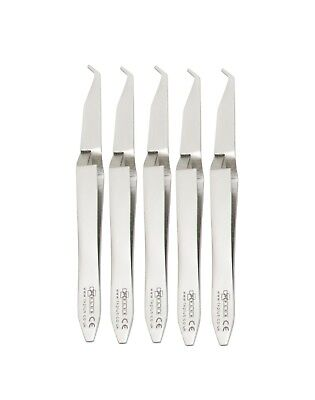 Dental Set 5 Orthodontic Bracket Placement Braces Holder Holding Tweezers Ortho