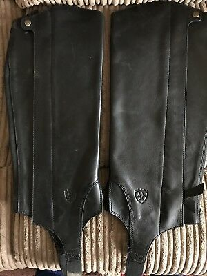 Ariat Chaps Horse Riding Gaiters Leather Large