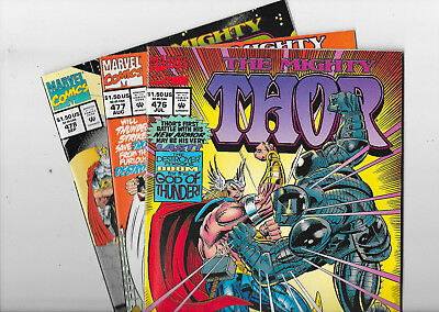 Thor #476 477 478 Marvel Comics Lot NM-