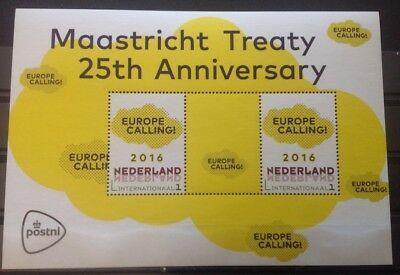 Nederland / The Netherlands - Postfris / MNH - Sheet Maastricht Treaty 2017