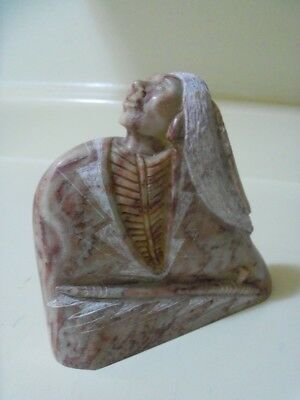 Native American Navajo Indian Sculpture, Made of Alabaster , By Will Hatch Jr
