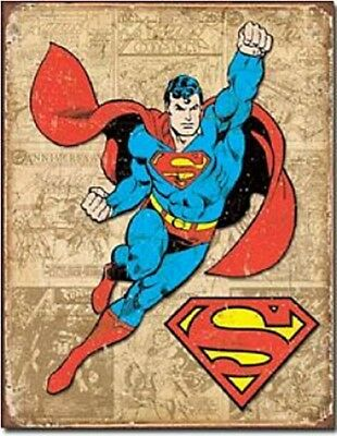 Superman Comic Cover large metal sign 400mm x 310mm (hb)