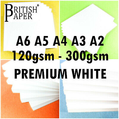 PREMIER A4 WHITE CRAFT QUALITY CARD DECOUPAGE STOCK PAPER SHEETS PRINTER 300 gsm