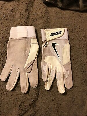 MLB game used nike diamond elite pro batting gloves
