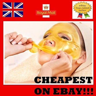 24k GOLD Collagen Mask Face Sheets Peel Bio Crystal Anti Wrinkle Aging Facial *