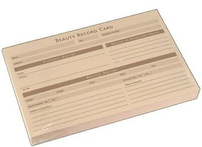 Salon Record Cards / SunBed - Spray Tan - Beauty - Waxing