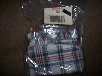 New In Package Longaberger Basket Cloth Liner Medium Purse In M Plaid