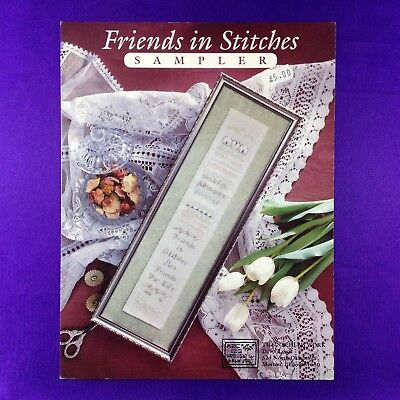 "Vintage Cross Stitch Booklet ""Friends In Stitches Sampler"" by The Needle's Work"