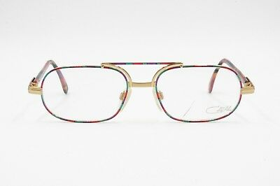 Cazal Vintage Eyeglasses Model 747 Col. 405, Multicolor Red & Gold, NOS 80s