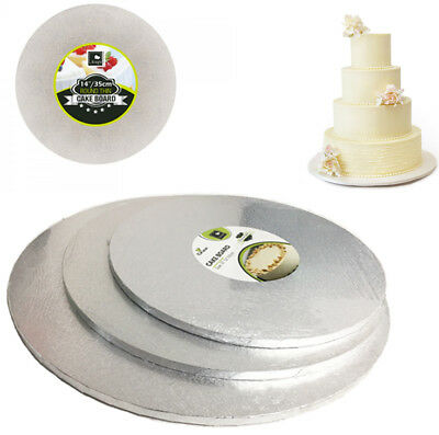 Round Cake Boards Baking Wedding Birthday Decor Stands Card Thick Drum Foil Base