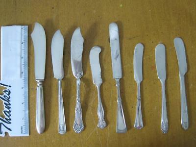 8 Pc Mixed Lot Silverplate Butter Knives Spreaders Crown, Holmes & Edwards, etc