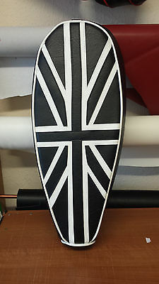 AJS Modena  Lexoto milano Seat Cover Union Jack Black And White
