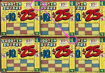 6 SIX-$1 PUNCHBOARDS rare HIGH-ROLLER $1 vintage trade stimulators FREE SHIPPING