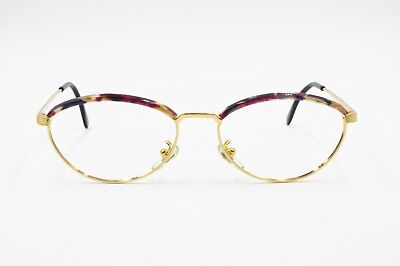 Vintage women oval eyeglasses frame O.MARINES made in Italy, adorned colored