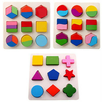 3D Wooden Toys Shape Sorter Puzzle Colorful Baby Toddler Buildings Toys ME