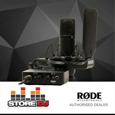 "Rode NT1 1"" Cardioid Condenser Microphone w/ AI1 Audio Interface & SMR Shock Mou"
